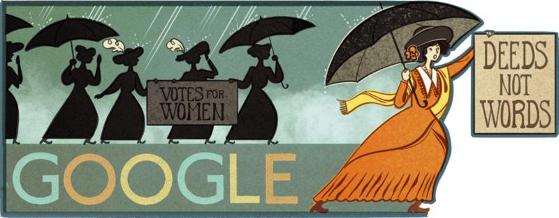 alice-pauls-131st-birthday Google Doodle