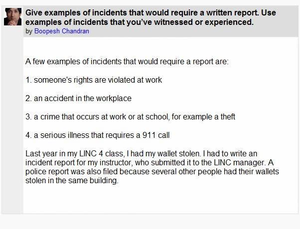 how to write a critical incident essay
