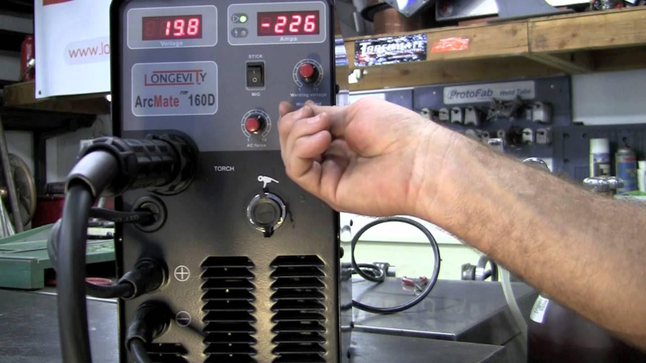 LONGEVITY ARCMATE 160D 110/220v MIG / STICK Welder 160 AMP ...