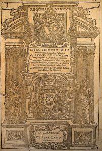 pall portada La edición de 1642 por Marco Antonio Brogiollo en Venecia (la portada que presenta la ilustración es de este libro).