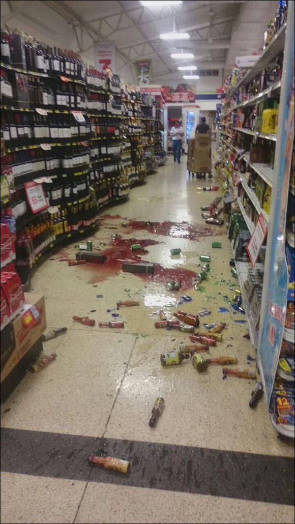 Los usuarios en Twitter comparten imágenes como esta, de los efectos del sismo en Ecuador. Foto: Rusia Today.