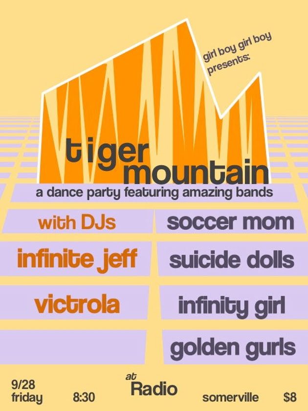 Tiger Mountain with Infinity Girl, Soccer Mom, Golden Gurls and Suicide Dolls