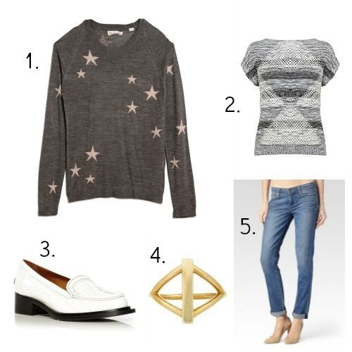 Chinti and Parker Sweater - Karen Millen Sweater - Acne Studios Shoes - Pamela Love Ring - Paige Jeans