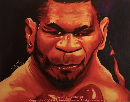 Mike-Tyson-painting-by-Nelson-Santos by caricaturas