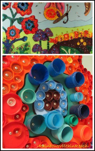 Mural Escolar Infantil Feito Com Reciclagem Cascavilha Quem