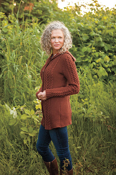 Moss Stitch Coat Pattern - Knitting Patterns