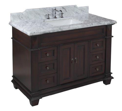 Elizabeth 48 Inch Bathroom Vanity Carrarachocolate