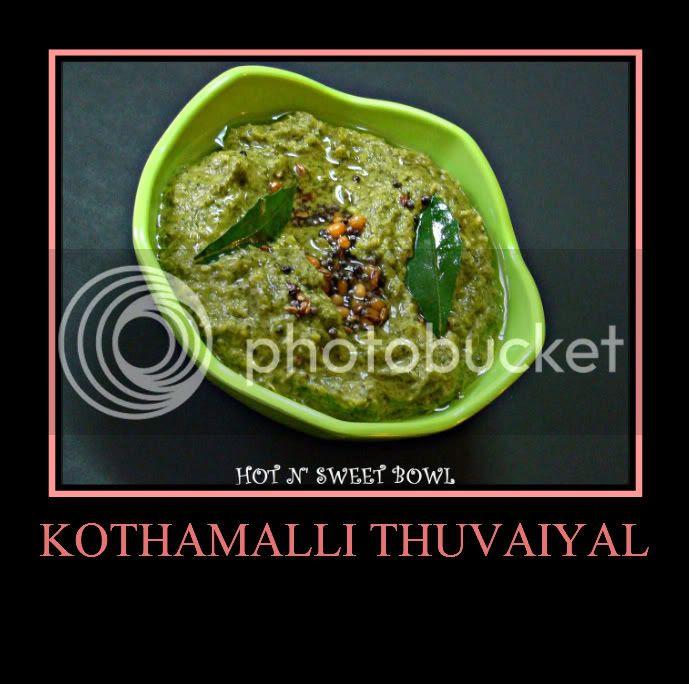 Kothamali Thuvayal