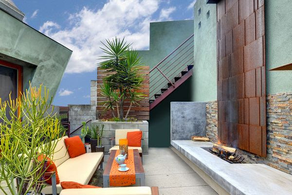 Eye-Catching, Modern Outdoor Fireplaces Turn The Patio ...