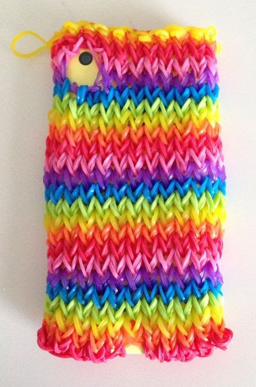 Best Rainbow Loom Projects Ever! A Rainbow Loom Cell phone case! #everydayfun