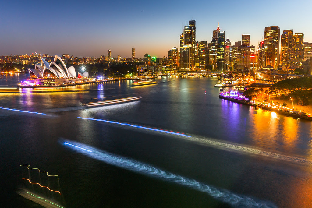 Sydney harbour night game