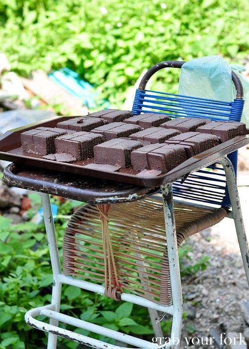 ipoh belacan cakes drying in sun