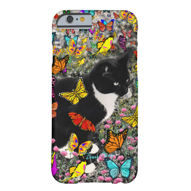 Freckles in Butterflies - Tuxedo Kitty Barely There iPhone 6 Case
