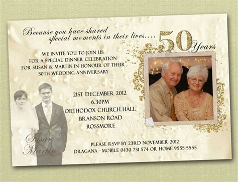 17 Best ideas about 50th Wedding Anniversary Invitations