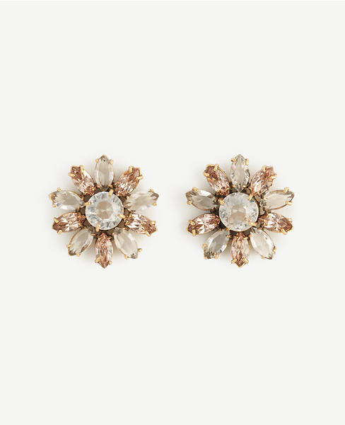 Primary Image of Crystal Flora Earrings