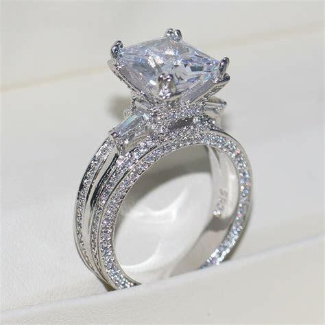 Eiffel Towe Women Jewelry 8ct Diamonique Cz White Gold