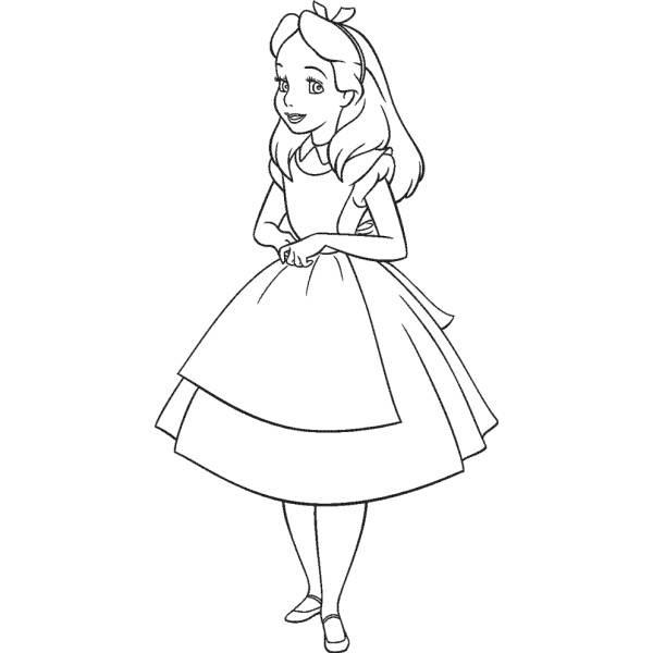 Disegno Di Alice Da Colorare Per Bambini Disegnidacolorareonlinecom