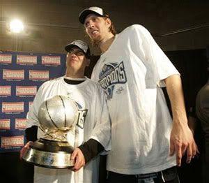 Mark Cuban and Dirk Nowitzki.