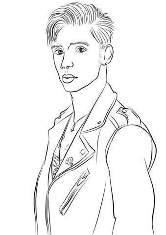 Andy Biersack from Black Veil Brides coloring page   Free