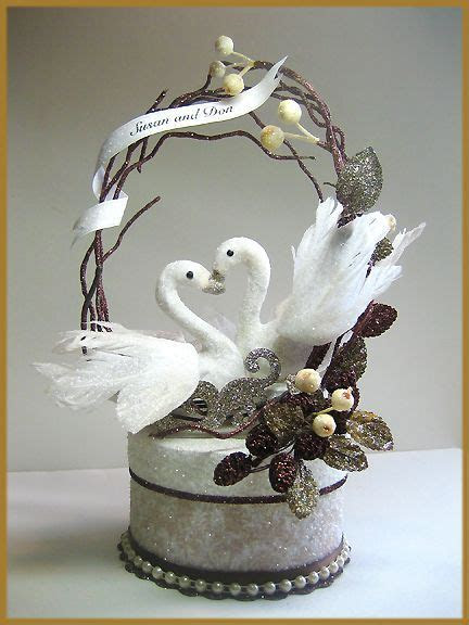 """""""Swans in Love"""" Wedding Cake Topper Image   Cakes"""