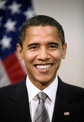 Poster of Barack Obama's official portrait as ...
