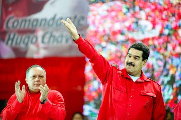 Presidente Maduro y Diosdado Cabello en el encuentro con las UBCH en Caracas