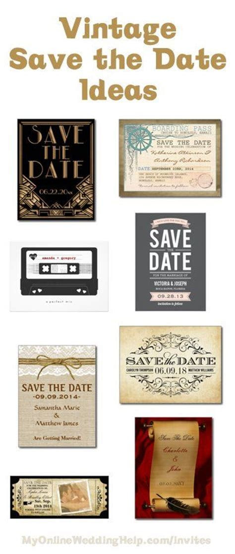 Vintage save the dates, Invitation ideas and Save the date