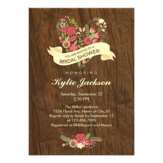 Rustic Tree Bridal Shower Invitation