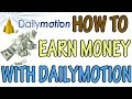 How to earn money with dailymotion like youtube in hindi.