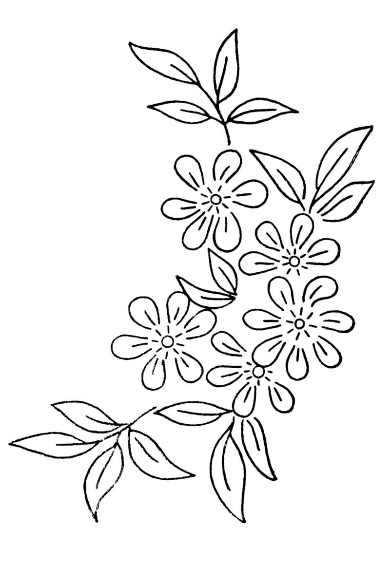 Free Embroidery Transfer Patterns - Vintage Flowers