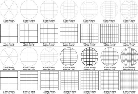 cake serving chart wilton  cake decoration tools