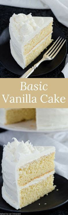 White Cake Recipe From Scratch   Cake RECIPES   Pinterest