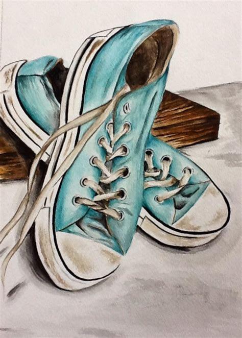 watercolor converse  creations zeichenkunst malen