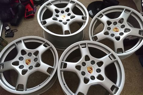 """19"""" Porsche lobster claw wheels for sale by Karl hill"""