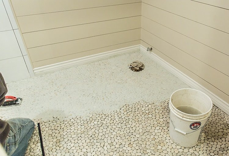Pebble Tile A Master Bathroom Update Jenna Sue Design Blog