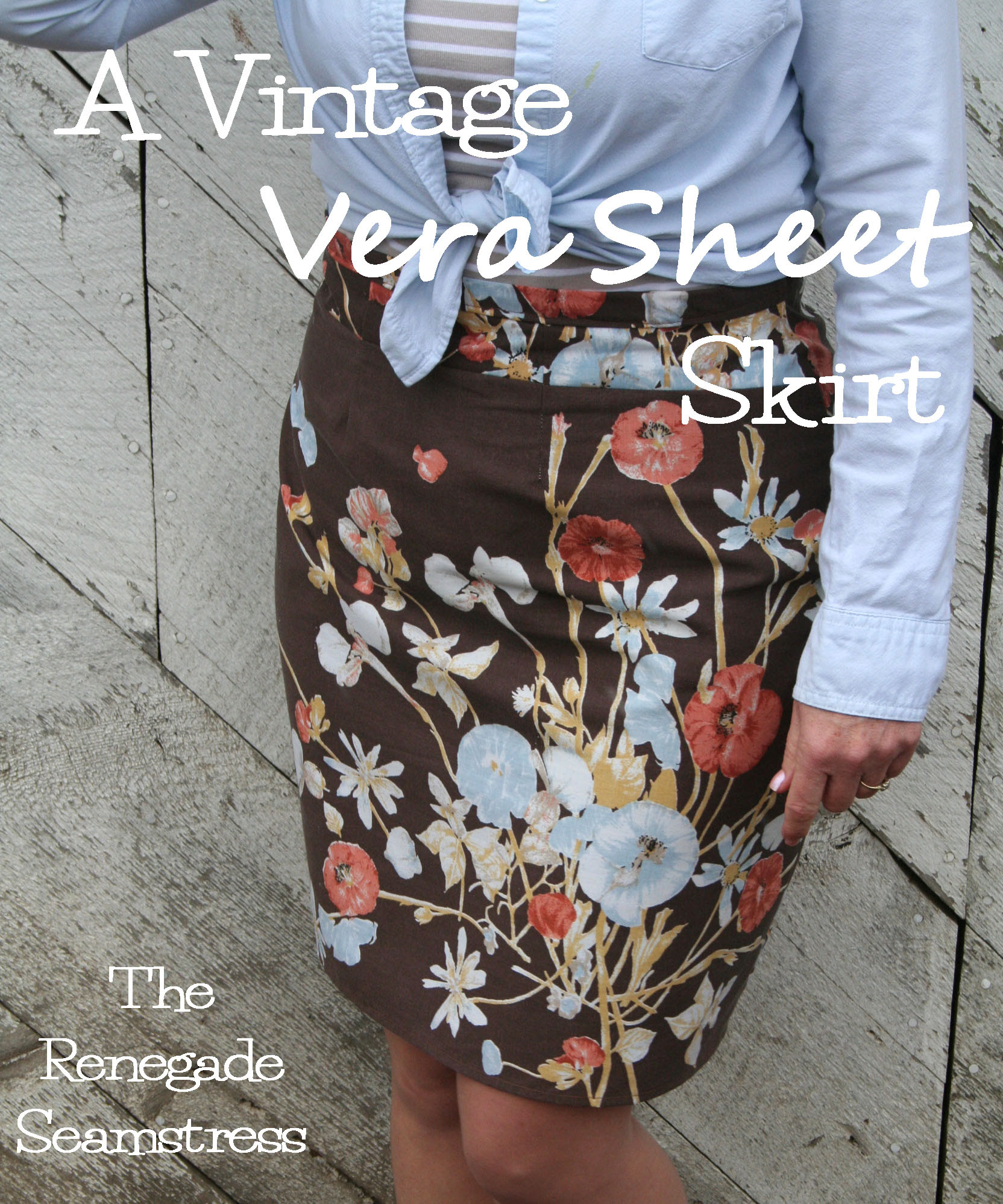 Upcycle a Vintage Vera Sheet Set to a Cute Skirt | The Renegade ...
