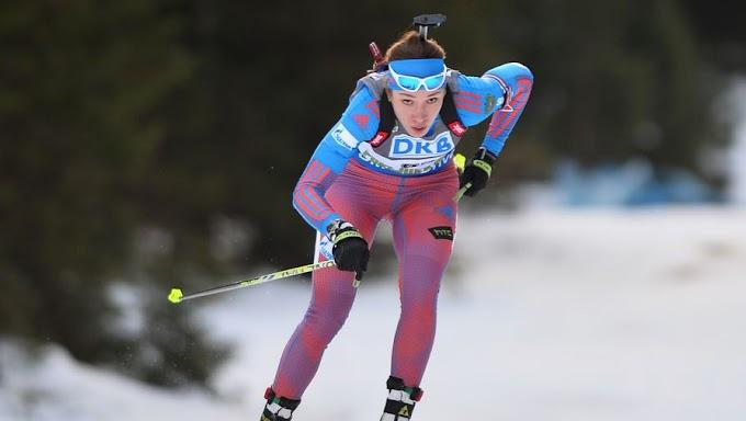 Женская сборная России по биатлону заняла 4-е место на этапе КМ