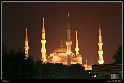 Blue Mosque at night - Mezquita azul de noche