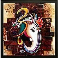 SAF 'Ganesh Religious' Painting (Synthetic, 30 cm x 3 cm x 30 cm)