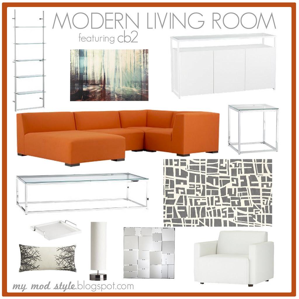 Modern Living Room - CB2