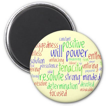 Motivational Words for New Year, Positive Attitude Fridge Magnets