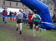 Close finish between Mark Pollard and Thomas Russell