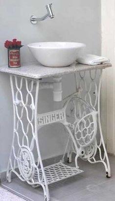 Reciclar antiguas máquinas de coser en muebles vintage   La Bioguía
