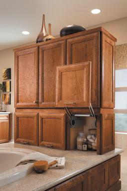 Vanity Vertical Lift Door Cabinet - KraftMaid