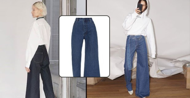 These trending Asymmetric style of Denim jeans will give you offbeat fashion goals