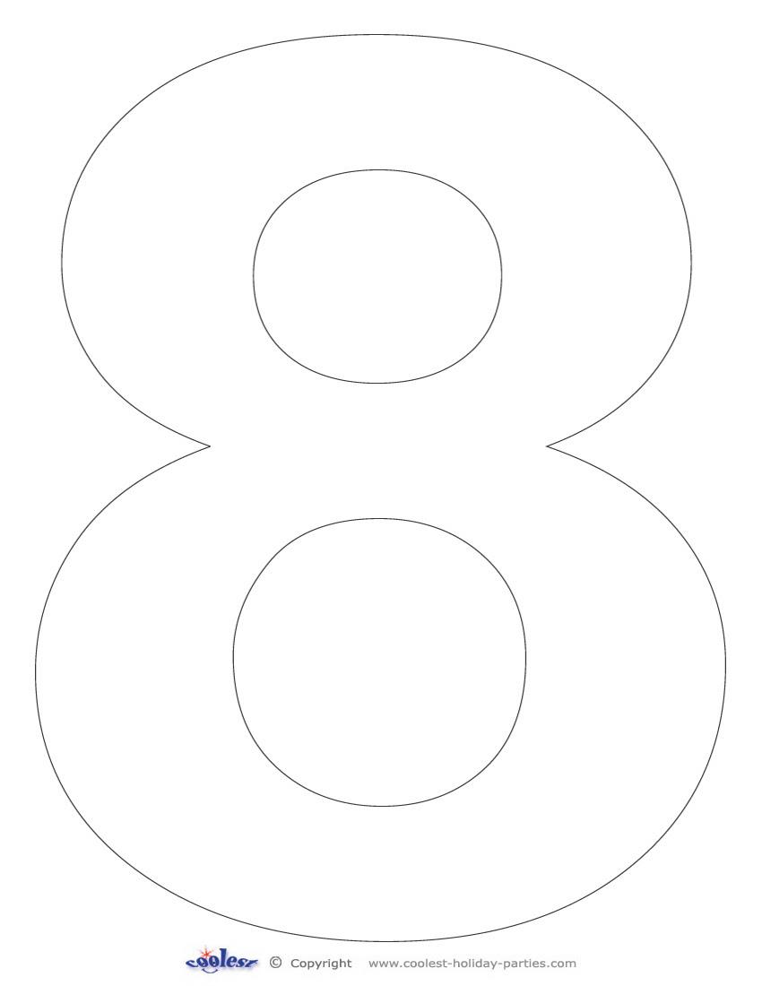 5 Best Images of Printable Big Number 8 - Large Printable Numbers ...