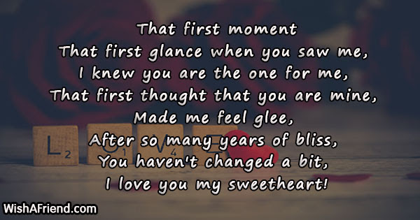 That First Moment Poem For Wife