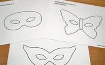 Máscara de Carnaval com moldes passo a passo