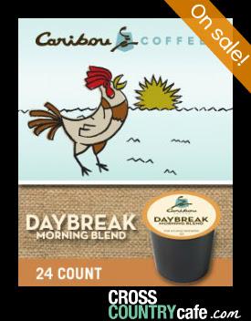 Caribou Daybreak Morning Blend Keurig K-cup coffee