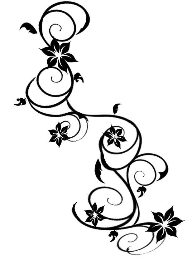 Flower Vine Tattoo Designs Foot Flowers Healthy
